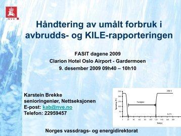 Forvaltningspraksis i forbindelse med svært ... - Energi Norge
