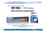 EHV series - Esco Drives & Automation