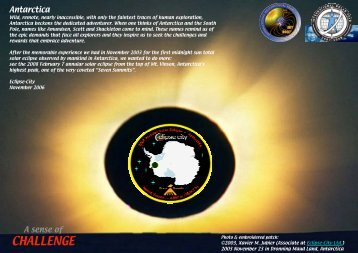 sponsoring guide for the 2008 Solar Eclipse in Antarctica