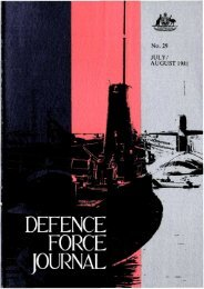 ISSUE 29 : Jul/Aug - 1981 - Australian Defence Force Journal