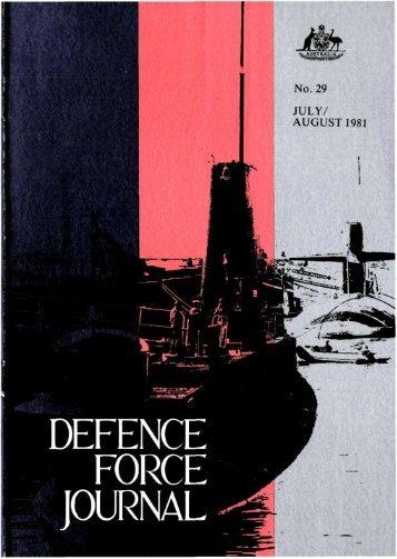 ISSUE 29 : Jul/Aug - 1981 - Australian Defence Force Journal