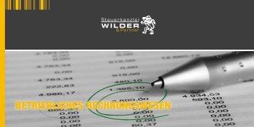 Betriebliches Rechnungsw. - Steuerkanzlei Wilder & Partner