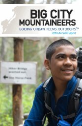 2010 Annual Report - Big City Mountaineers