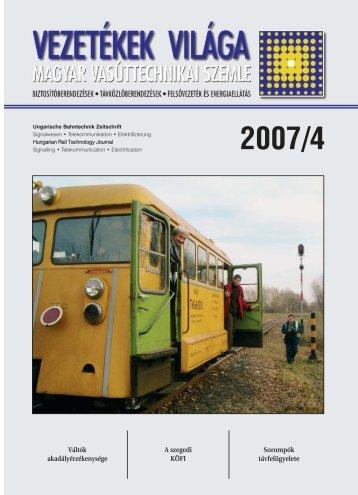 Issue 2007 /4. - MÁV Dokumentációs Központ és Könyvtár