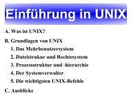 A. Was ist UNIX? B. Grundlagen von UNIX 1. Das ... - Model.in.tum.de