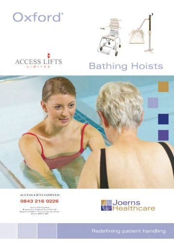 Download Swimming and bathing hoists brochure - Access Lifts ...