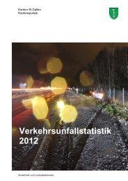 Verkehrsunfallstatistik 2012 (1933 kB, PDF) - Kantonspolizei St.Gallen