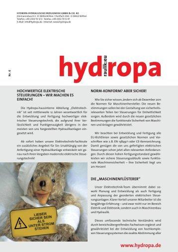 Liebe Hydrauliker, - Hydropa GmbH & Cie. KG