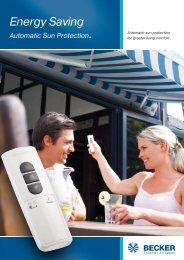 Energy Saving Automatic Sun Protection. - Becker-Antriebe