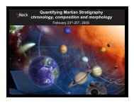 Quantifying Martian Stratigraphy chronology, composition ... - Caltech
