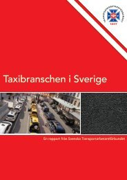 Taxibranschen i Sverige – en rapport från Svenska Transportarbetareförbundet