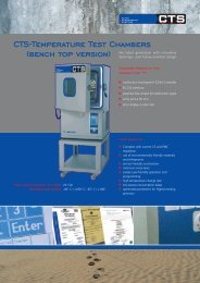 CTS-Temperature Test Chambers (bench top version) - CTS GmbH