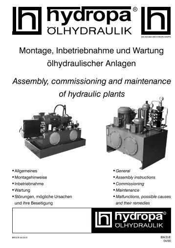 Montage, Inbetriebnahme und Wartung ... - Hydropa GmbH & Cie. KG