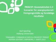 PRINCIP: Hovedaktivitet 2.2 Scenarier for ... - Energi PRINCIPS