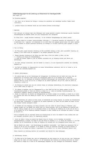 VDMA Lieferbedingungen - Sollas