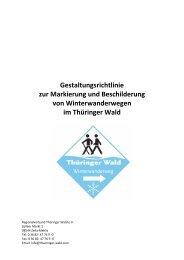 Gestaltungsrichtlinie zur Markierung und Beschilderung von ...