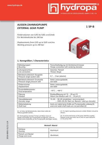 1 SP-B - Hydropa GmbH & Cie. KG