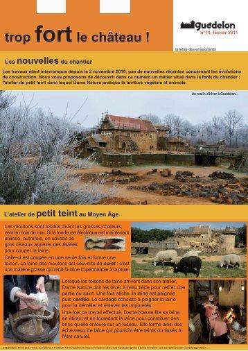 """Trop fort le château !"" N°14 (PDF - 380 Ko) - Guédelon"