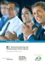 3. Wissenstransfertag der Metropolregion Rhein-Neckar - Universität ...