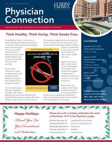 December - Hurley Medical Center Education & Research