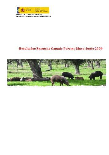 Resultados Encuesta Ganado Porcino Mayo-Junio 2009 - Eurocarne