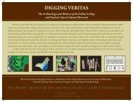 Digging Veritas brochure - Peabody Museum - Harvard University