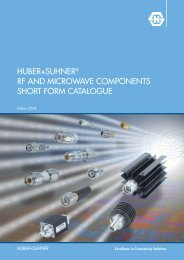 RF and microwave components short form catalogue - AlHof
