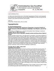 Nr. 12, Mai 2002 - AK Geographie und Geschlecht