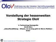 Vorstellung der hessenweiten Strategie OloV - Werra-Meißner-Kreis