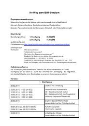Infoblatt Aufnahmeverfahren