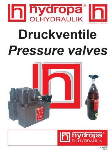 Pilot controlled pressure valve type DA - Hydropa GmbH & Cie. KG