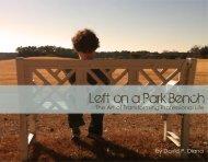 Left on a Park Bench - David P. Diana Marketing