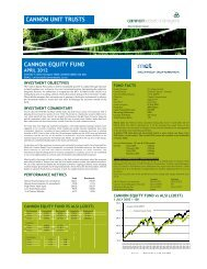 cannon unit trusts cannon equity fund nit trusts uity fund