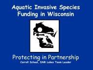 Aquatic Invasive Species Control Funding in Wisconsin