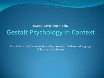 Gestalt Psychology in Context