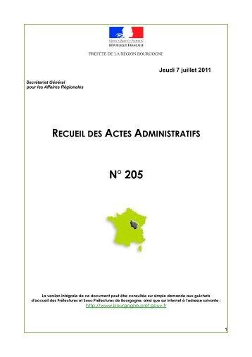 RAA 205 - Préfecture de la Côte-d'Or