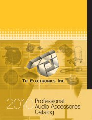 2010 Professional Audio Accessories Catalog