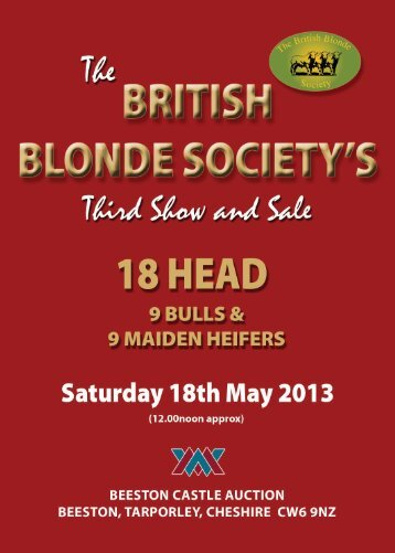 The BRITISH BLONDE SOCIETY'S - Wright Manley