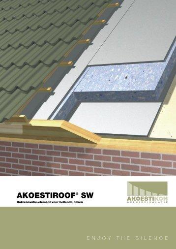 Akoestiroof® SW Dakrenovatie-element voor hellende daken