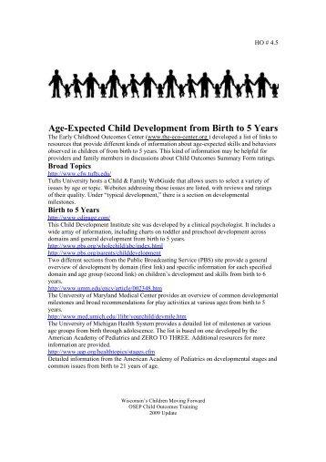 interesting child development topics