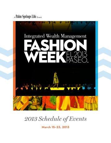 March 15–23, 2013 - Fashion Week El Paseo™ 2013