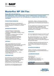 TDB, MasterRoc MP 364 Flex - BASF Performance Products GmbH