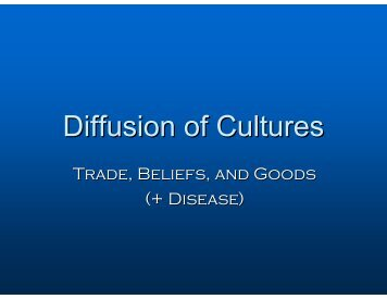 Diffusion of Cultures