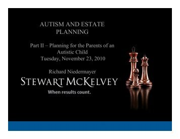Autism and Estate Planning - Part II - Stewart McKelvey