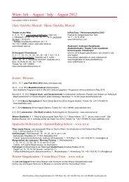 Wien: Juli – August / July – August 2012