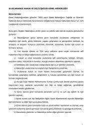 2010 Yılı Faaliyet Raporu - Uluslararası Hukuk ve Dışilişkiler Genel ...