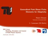 Generalized Park-Sheen Finite Elements for Adaptivity - TU Berlin