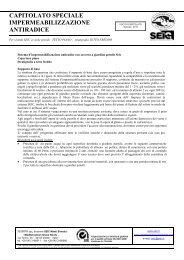 capitolato speciale impermeabilizzazione antiradice - Harpo S.p.A.