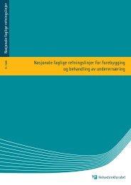 Nasjonale faglige retningslinjer for forebygging og ... - Helse Bergen