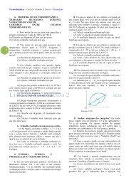 Termodinâmica – Prof. Dr. Cláudio S. Sartori – Exercícios PRIMEIRA ...